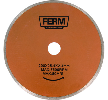 Ferm TCA1006 Lame de scie diamantée 200 x 25.4 x 2.4 mm