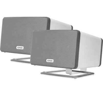 SONOS PLAY:3 Duo Pack Wit + Flexson PLAY:3 Tafelstandaards