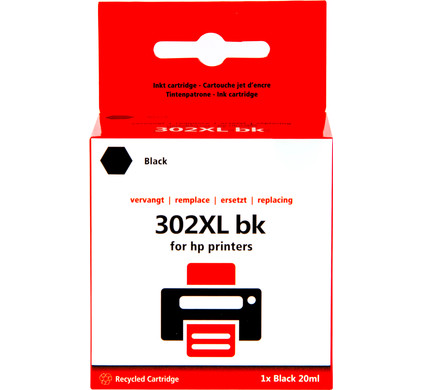 Huismerk 302 Zwart XL voor HP printers (F6U68AE)