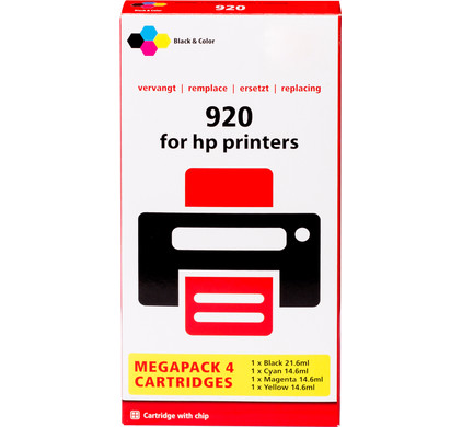 Huismerk 920 4-Kleuren XL voor HP printers (C2N92AE)