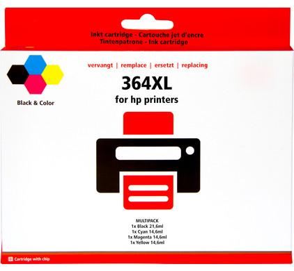 Huismerk 364 Cartridge 4-Kleuren XL voor HP printers (J3M83AE)