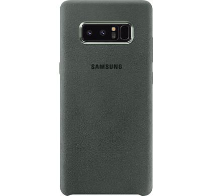 Samsung Galaxy Note 8 Alcantara Back Cover Groen