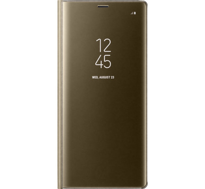 Samsung Galaxy Note 8 Clear Stand View Cover Goud