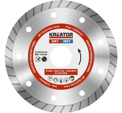 Kreator Diamantschijf Permium Turbo 115 mm