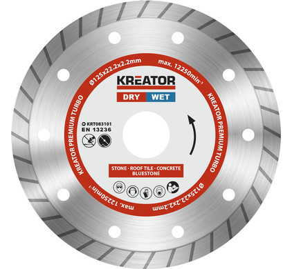 Kreator Diamantschijf Premium Turbo 125 mm
