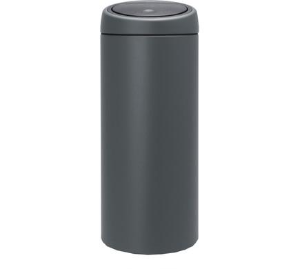 Brabantia Afvalbak 30 Liter.Brabantia Touch Bin 30 Liter Verkeersgrijs Coolblue Voor 23 59u