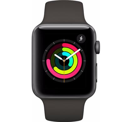 Apple Watch Series 3 42mm Space Grey Aluminium/Grijze Sportband