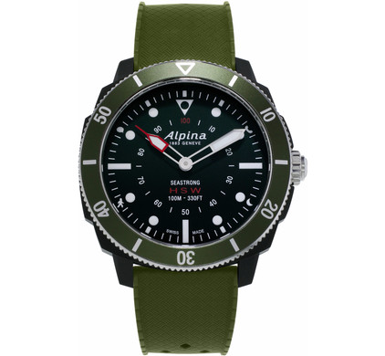 Alpina Seastrong Horological Zwart/Groen