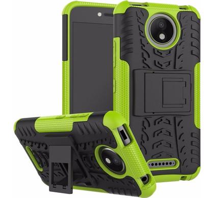 Just in Case Rugged Hybrid Motorola Moto C Plus Back Cover Groen