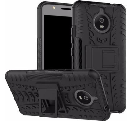 Just in Case Rugged Hybrid Motorola Moto E4 Plus Back Cover Zwart