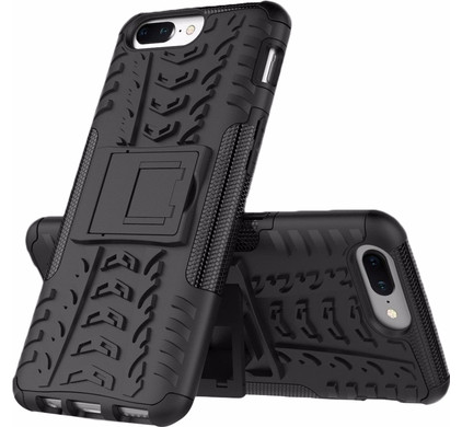 Just in Case Rugged Hybrid OnePlus 5 Back Cover Zwart
