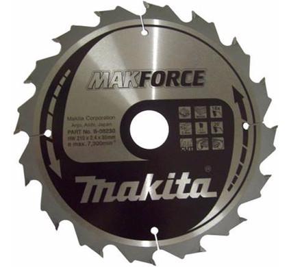 Makita Zaagblad HM hout 210x30x2.4mm 16T B-08230