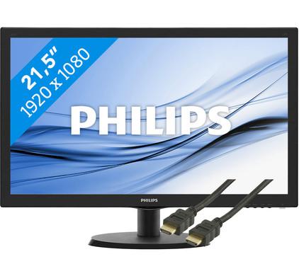 Philips 223V5LHSB2/00 + HDMI kabel