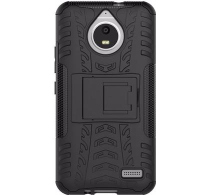 Just in Case Rugged Hybrid Motorola Moto E4 Back Cover Zwart