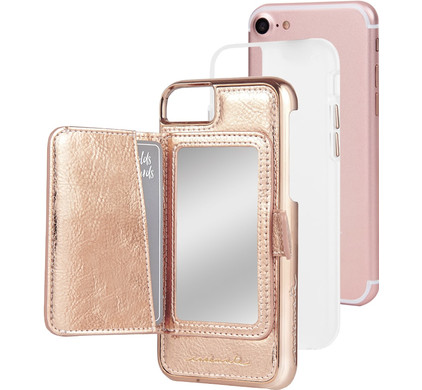 Case-Mate Compact Mirror Apple iPhone 7/8 Back Cover Rose Gold