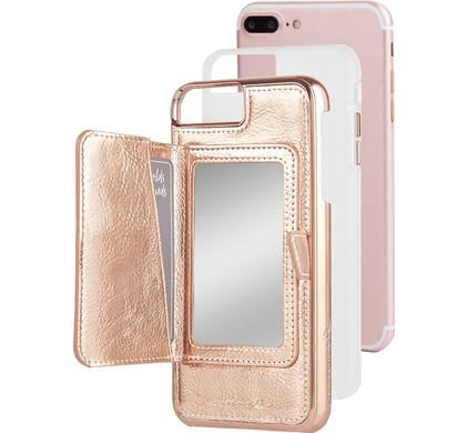Case-Mate Compact Mirror Apple iPhone 7 Plus/8 Plus Back Cover Rose Gold