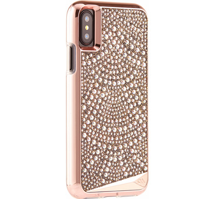 Case-Mate Brilliance Lace iPhone X Back Cover Rose Gold