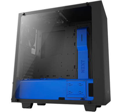 NZXT S340 Black / Blue Elite