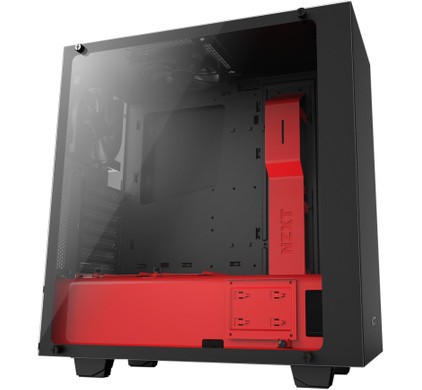 NZXT S340 Black / Red Elite