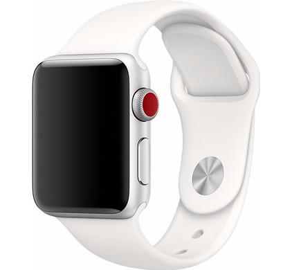 Apple Watch 38mm Siliconen Horlogeband Sport Wit