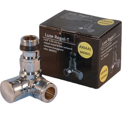 """Best Design Luxe Regel-T Voetventiel Axiaal 1/2""""x15 mm"""