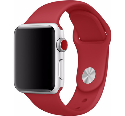 Apple Watch 38mm Siliconen Horlogeband Sport Rood