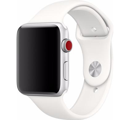 Apple Watch 42mm Siliconen Horlogeband Sport Wit