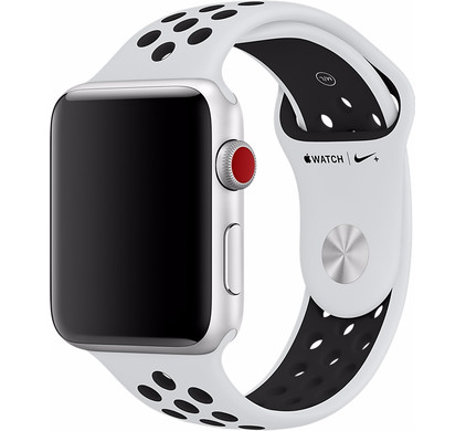 Apple Watch 42mm Siliconen Horlogeband Nike Sport Wit