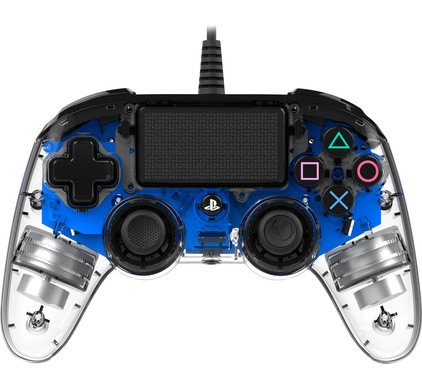 Nacon PS4 Official Wired Illuminated Controller Blauw