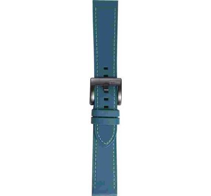 Samsung Gear Sport Leren Horlogeband Blauw