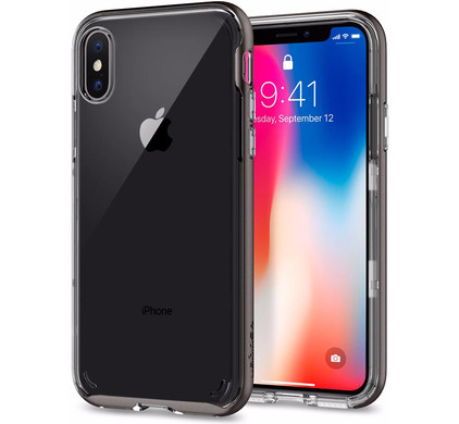 Spigen Neo Hybrid Crystal Apple iPhone X Back Cover Grijs