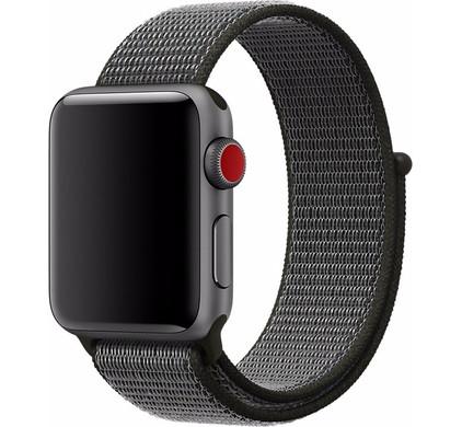 Apple Watch 38mm Nylon Sport Loop Horlogeband Grijs