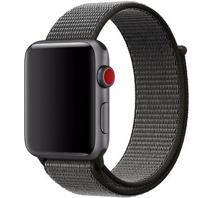 Apple Watch 42mm Nylon Sport Loop Horlogeband Grijs