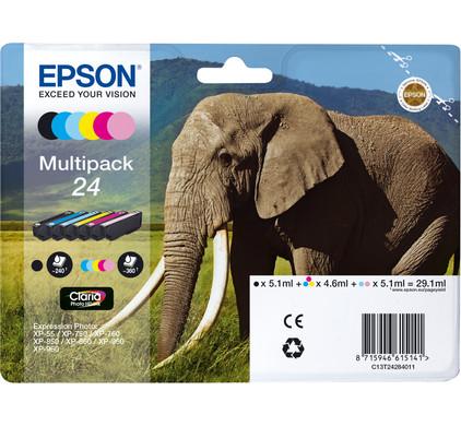Epson 24 Inktcartridge 6 Colour Multipack C13T24284011