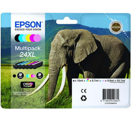 Epson 24 XL Inktcartridge 6 Colour Multipack C13T24384010