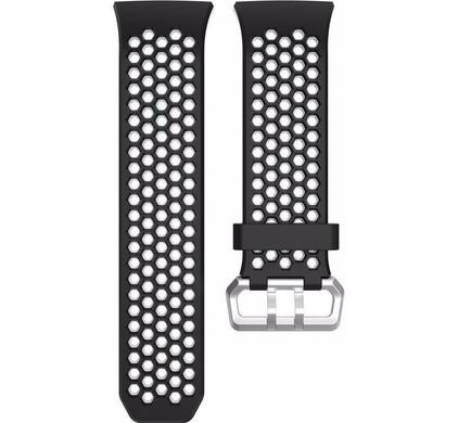Just in Case Fitbit Ionic Siliconen Horlogeband Zwart/Wit
