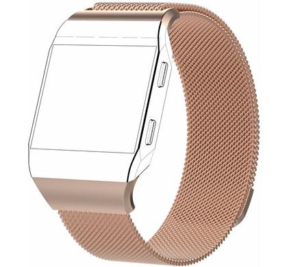 Just in Case Fitbit Ionic Milanees Horlogeband Rose Goud L