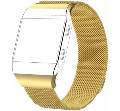 Just in Case Fitbit Ionic Milanees Horlogeband Goud L