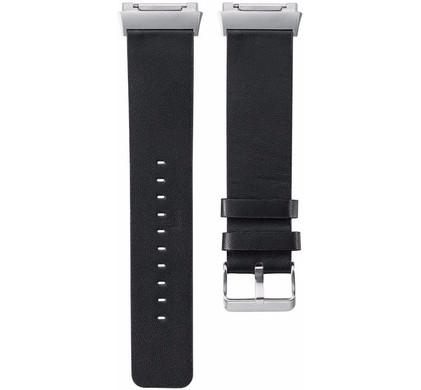 Just in Case Fitbit Ionic Leren Horlogeband Zwart