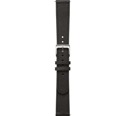 Nokia 18mm Leren Horlogeband Zwart