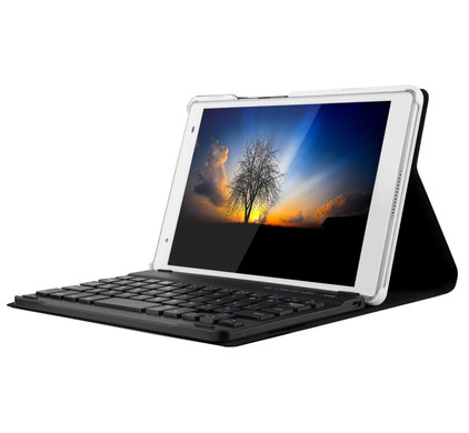 Just in Case Lenovo Tab 4 8 Plus Keyboard Cover Zwart