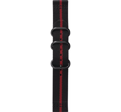 Samsung Gear Sport Premium Nylon Horlogeband Zwart/Rood