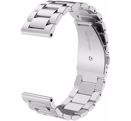 Just in Case Samsung Gear Sport RVS Horlogeband Zilver