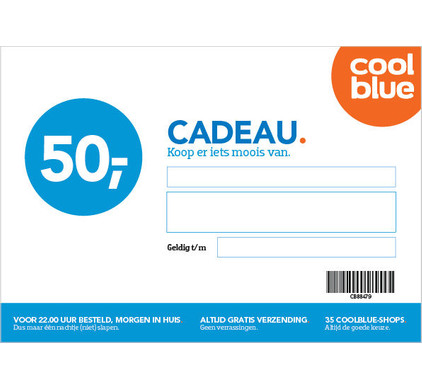 Coolblue Cadeaubon 50 Euro Coolblue Voor 23 59u Morgen In Huis