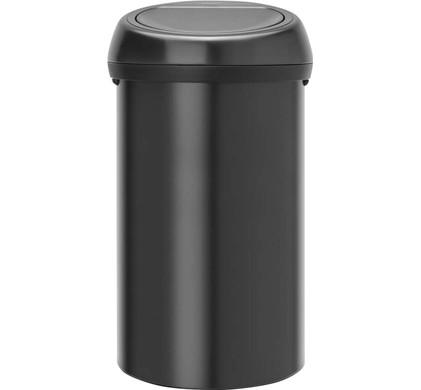 Brabantia Touch Bin 30 L Mat Zwart.Brabantia Touch Bin 60 Liter Black