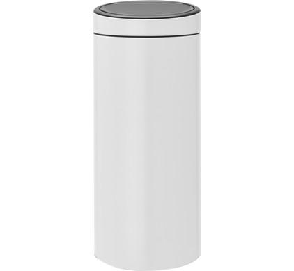 Touch Bin 30 Liter.Brabantia Touch Bin 30 Liter White