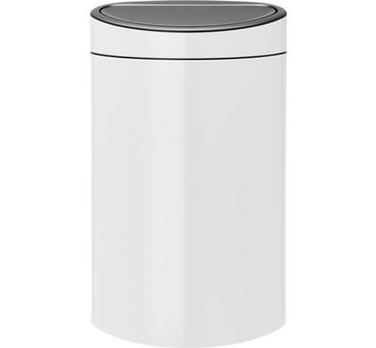 Garantie Brabantia Touch Bin 40 Liter.Brabantia Touch Bin 40 Liter White