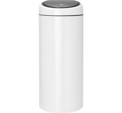 Afvalemmer Brabantia 30 Liter.Brabantia Touch Bin 30 Liters White