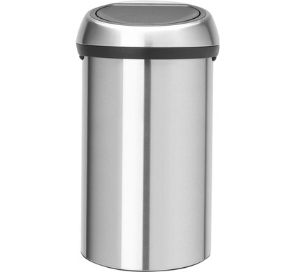Afvalbak Touch Bin.Brabantia Touch Bin 60 Liters Matte Steel Fingerprint Proof