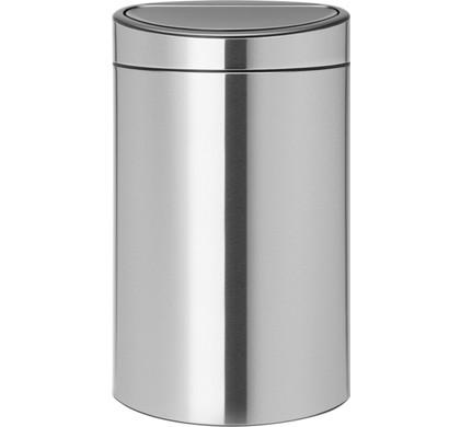 Brabantia Touch Bin Recycle 10 + 23 liter Matt Steel